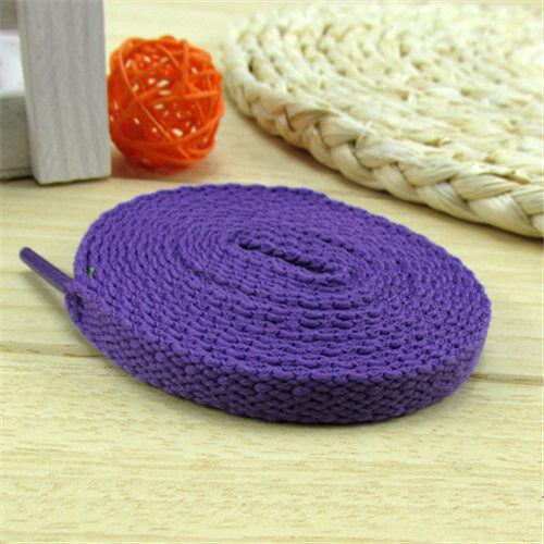 """Flat 1 Pair 130 cm Fashion Canvas Shoes Unisex Shoelaces Shoe String Strap 51/"""""""