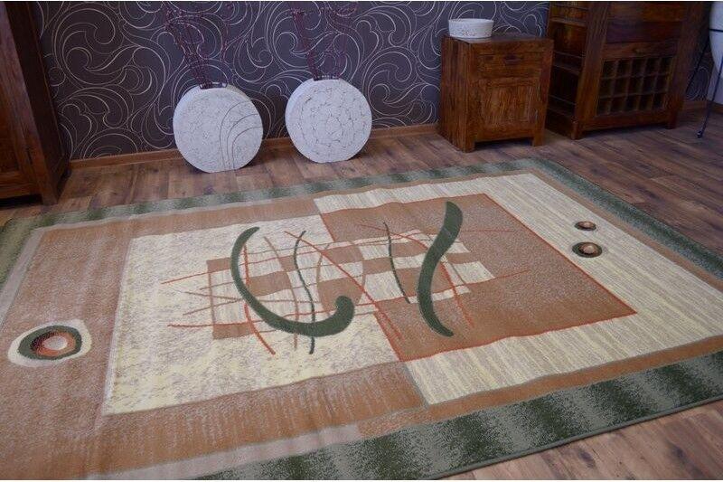 12 Größen schön traditionell klassische Teppich 'PRIMO' Abstrakt Abstrakt Abstrakt Grün Beige 4e4311