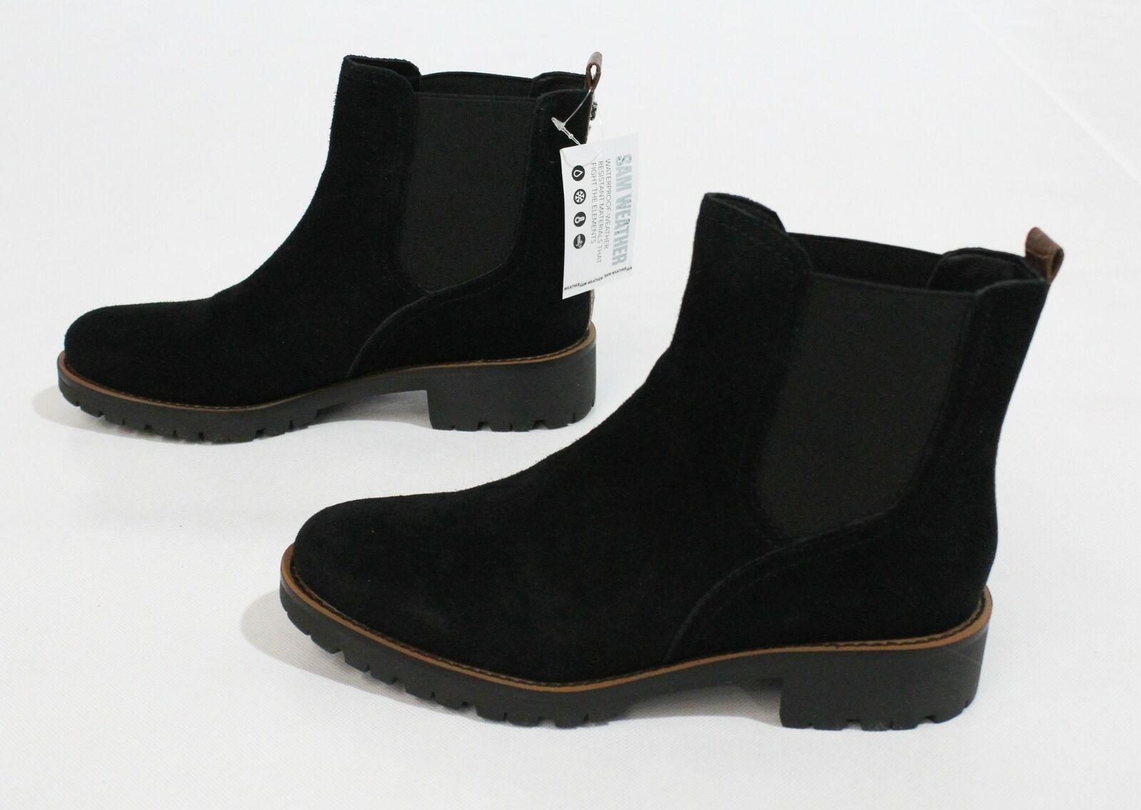 Sam Edelman Women's Jaclyn Waterproof Chelsea Bootie FR7 Black Suede Size US:7M