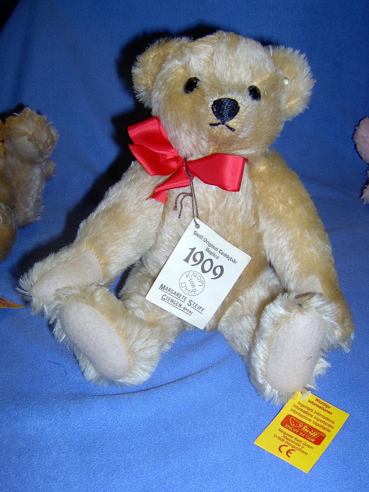 Steiff Teddy 406225 Teddybär Replica 1909 mit Stimme
