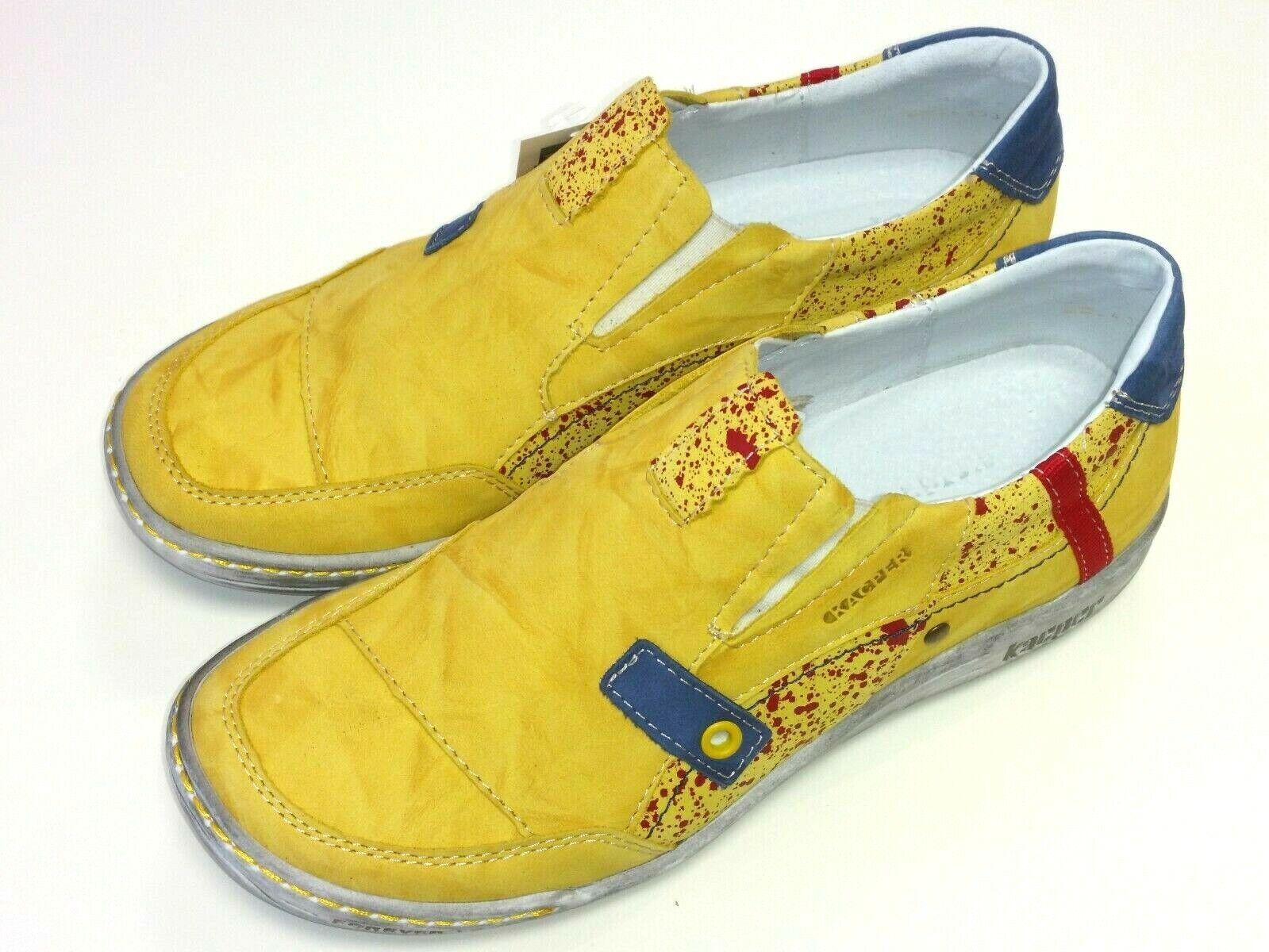 Kacper Polonia zapatos señora zapato semi Slipper cortos 2-4393 cuero cuero cuero amarillo  hasta 42% de descuento