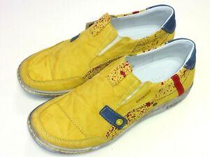 Details zu Kacper Polen Damen Schuhe Halbschuh Slipper Sneaker 2 4393 Leder gelb
