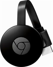 NEW Google Chromecast 2nd Generation HD Smart Media Streamer Black Voice Command