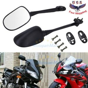 2x Motorcycle Rearview Side Mirrors For Honda CBR600RR CBR1000RR 2004-2007 05 06