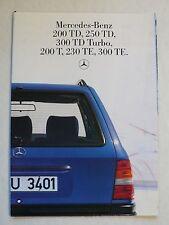 Prospekt Mercedes W 124 T: 200 TD - 300 TD Turbo, 200 T - 300 TE, 8.1985, 16 S.