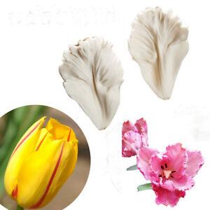 2Pcs-Tulip-Petal-Silicone-Cake-Mold-Fondant-Flower-Leaves-Chocolate-Baking-Mould