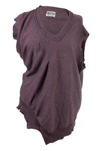 Damen-Pullunder-Pullover-Merino-Wolle-Gr-L-A-Symetrisch