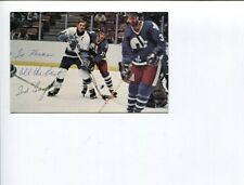 Ted Taylor NY New York Rangers Detroit Red Wings Signed Autograph Photo