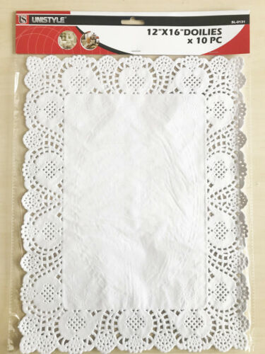 "10 Pieces Doilies 12/"" X 16/"" Tableware Doilies for dining or coffee table"