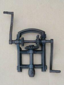 Antique-Barn-Beam-Drill-Boring-Machine-Part-Timber-Framing-Tool