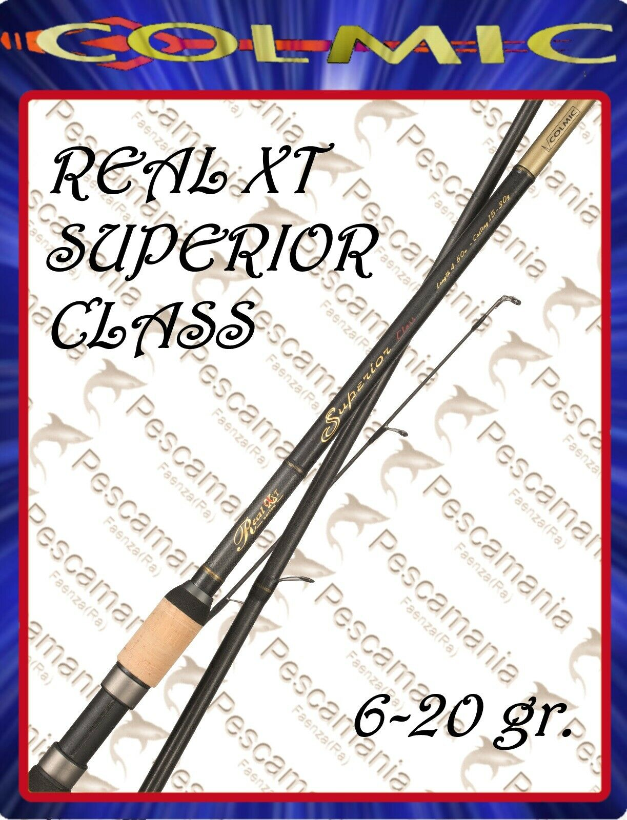 Canna inglese Colmic REAL XT Superior Class 6-20gr. 4,20-4,50mt