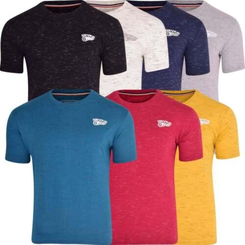 Mens North Play Basic Crew Neck T Shirt Short Sleeved Plain Fashion Tee