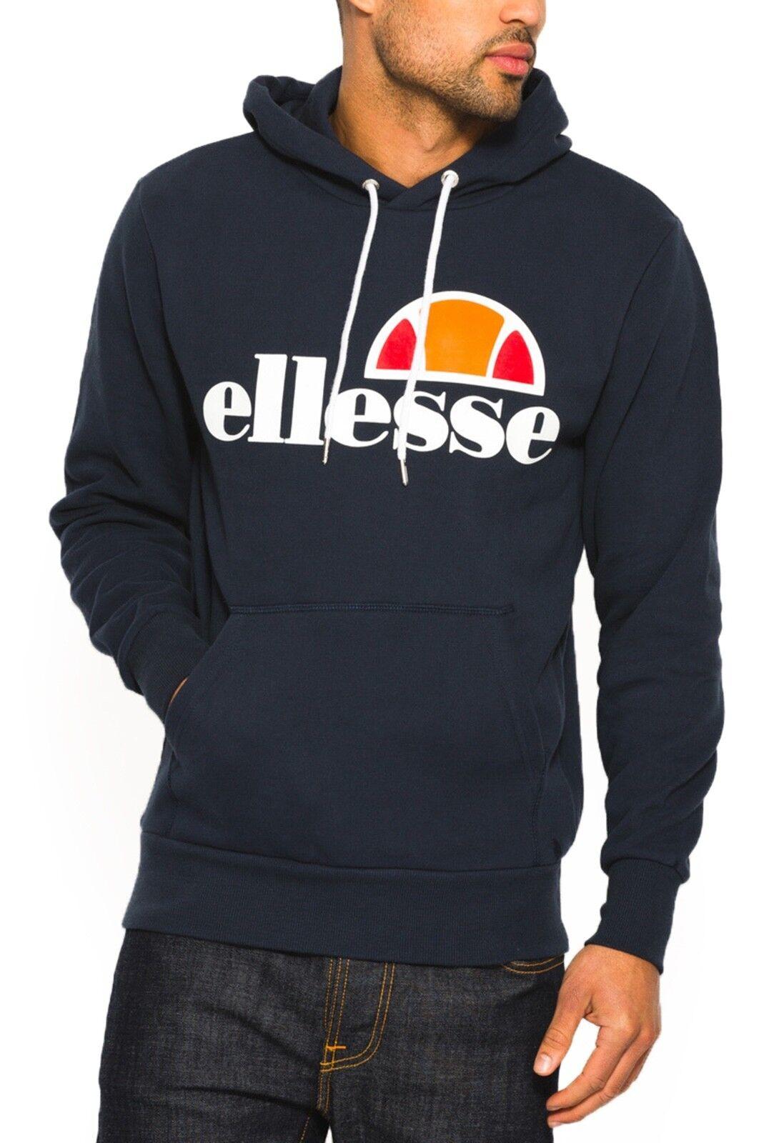 Ellesse  Herren Cotton Overhead Gottero Hooded Sweatshirt Top Dress Blau Hoodie