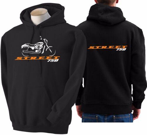 Felpa moto Harley Davidson Street 750 hoodie sweatshirt bike hoody sweater