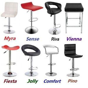 Cool New 4X 2X 1X Pu Leather Bar Stools Kitchen Dining Chair Gas Machost Co Dining Chair Design Ideas Machostcouk