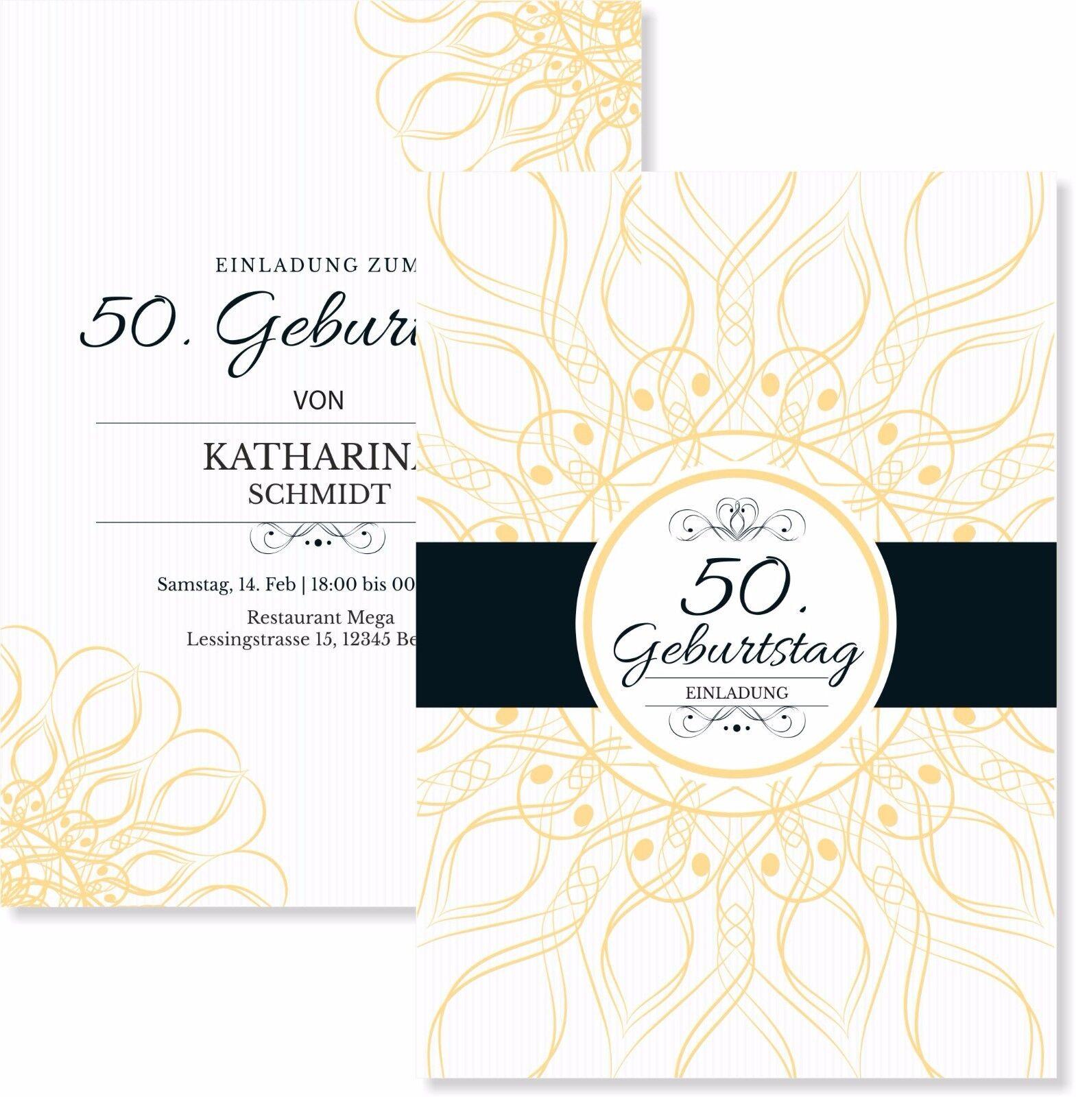 Elegante Einladungskarten zum Geburtstag edel Einladung   | Verkauf  | Online