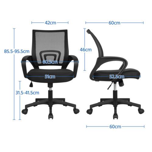 2xDrehstuhl Bürostuhl Schreibtischstuhl Office Chair Höhenverstellung mit Rollen