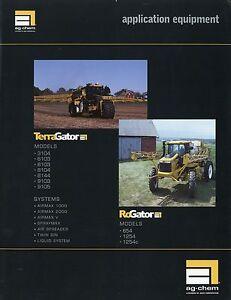 FleißIg Ag Chem Application Equipment Prospekt Usa 2002 Terragator Rogator Landmaschinen