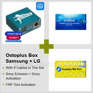 Details about Octoplus Box Samsung + LG + FRP Tool / Sony Ericsson / Sony  Activation + Cables