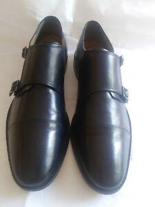 Florsheim-Men-039-s-Dress-Shoes-Black-Leather-Double-Monk-Strap-Loafers-Size-12