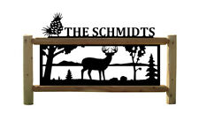 Personalized Whitetail Deer Outdoor Sign