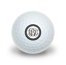 Personalized Custom Novelty Golf Balls 3 Pack - Monogram Fancy Scalloped