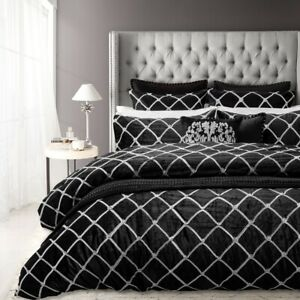 Davinci Julienne Quilt Cover Set Noir
