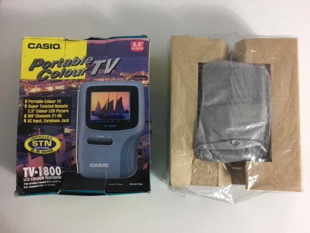 CASIO TV-1800 PORTABLE COLOUR TV # RARE # RETRO # COLLECTABLE Boxed Complete