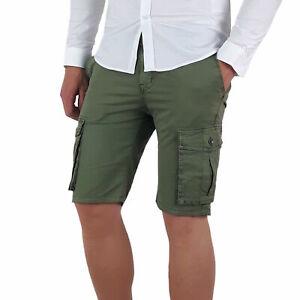 432fa8c2d0e504 Caricamento dell'immagine in corso Bermuda-uomo-pantaloni-corti-pantaloncini -cargo-tasconi-laterali-