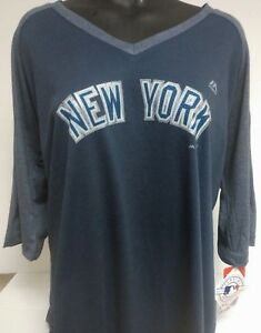 the latest bac71 b4a46 Details about NEW YORK YANKEES ROAD WOMANS PLUS SIZE JERSEY FASHION SHIRT  NEW W TAGS