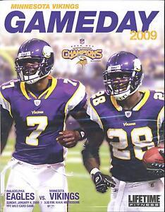Image is loading Minnesota-Vikings-Philadelphia-Eagles-Program-1-4-2009- 952543651