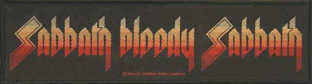 BLACK SABBATH SUPERSTRIP PATCH AUFNÄHER # 18 SABBATH BLOODY SABBATH - 19x5cm