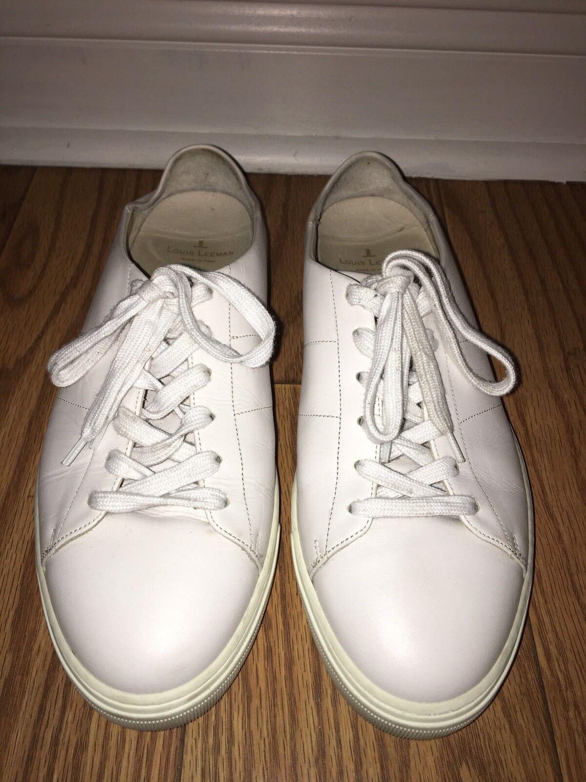 Louis Leemam Uomo Fashion 10  White Pelle Size 43 Euro 10 Fashion Us Mint Conditi 61e4eb