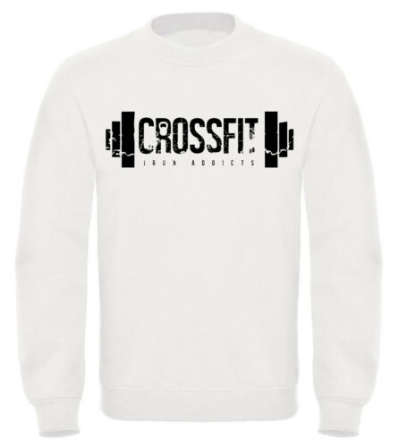 Felpa CROSSFIT palestra con cappuccio o girocollo unisex tshirt maglia maglietta