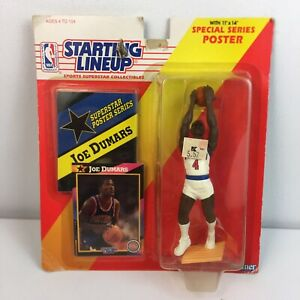 Starting Lineup JOE DUMARS w/ Poster KENNER 1992 Vintage Figurine NEW/SEALED NBA