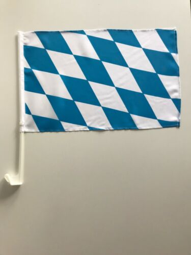 Autofahne Autoflagge Bayern Rauten 30x45 cm