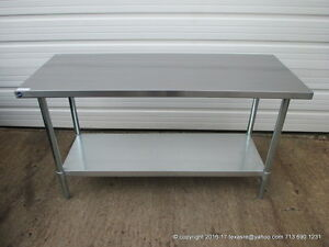 Image Is Loading New Stainless Steel Work Prep Table 60 034