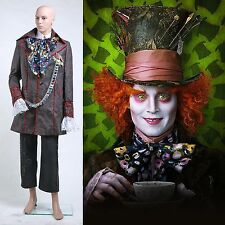 Alice in Wonderland Johnny Depp Mad Hatter Costume Cappellaio Matto *Su Misura*