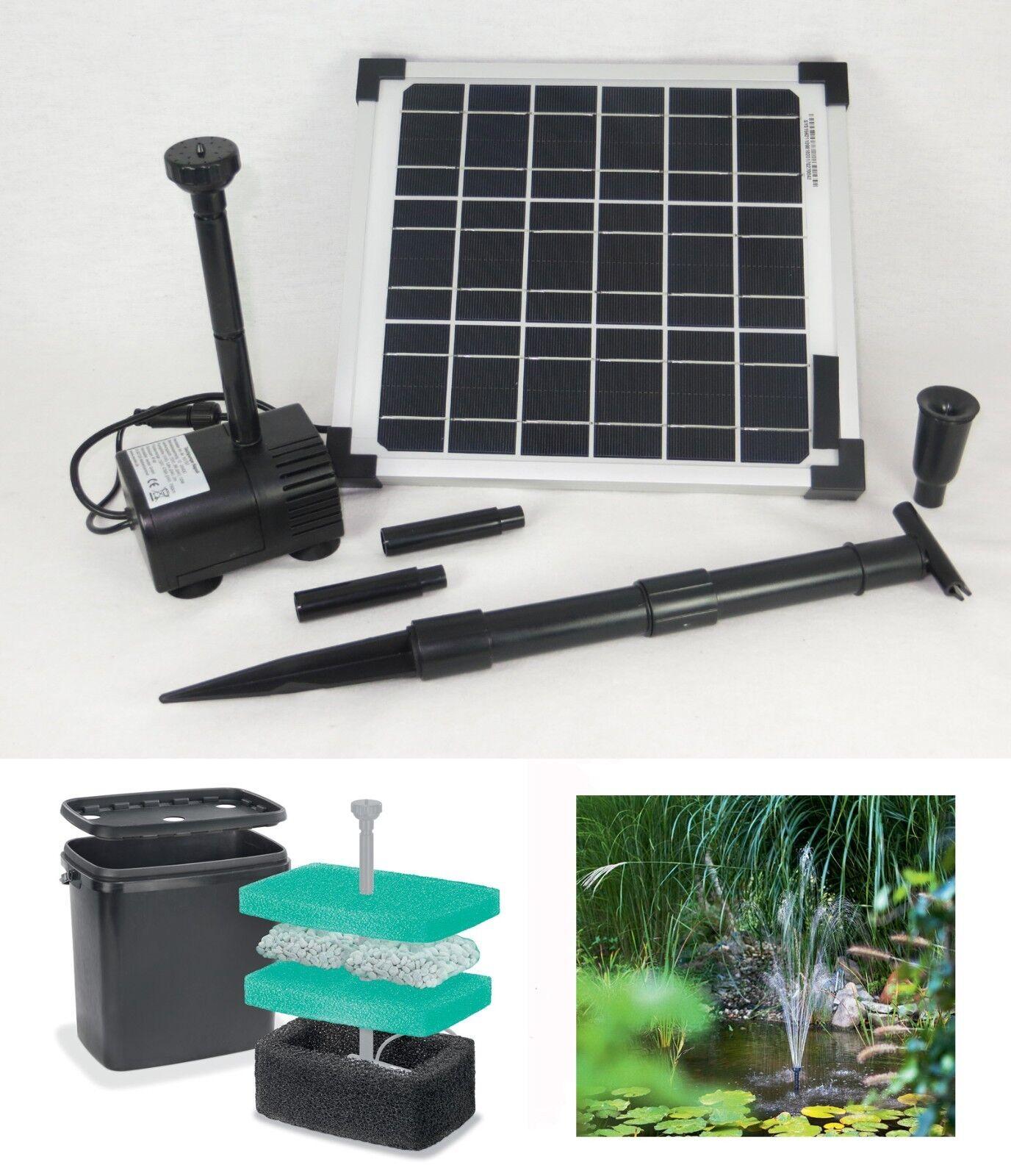 10 W jardín bomba estanque filtro filterbox solar bomba solar bomba estanque lote de Bach bomba