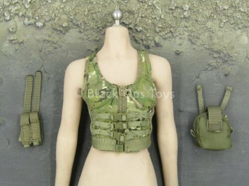 Multicam Vest /& Pouch Set 1//6 Scale Toy Female Soldier