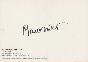 ALFRED MANESSIER --- original signiert - A6#2