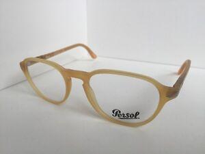 31ee80e359c2e New Persol 3053-V 9010 50mm Rx Round Camel Eyeglasses Frame Hand ...