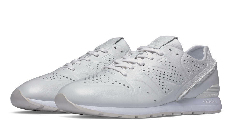 NIB New Balance MENS MRL696DT WHITE DECONSTRUCTED LEATHER CLASSIC SNEAKERS 9-12