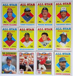 1985-87-Baseball-Cards-Topps-Lot-12-All-Star-National-American-League-AL-Leaders