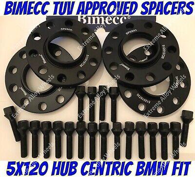 Pernos 12MM 5X120 72.6MM BMW serie 3 E46 M3 Inc. BIMECC ALEACIÓN Separadores de Rueda