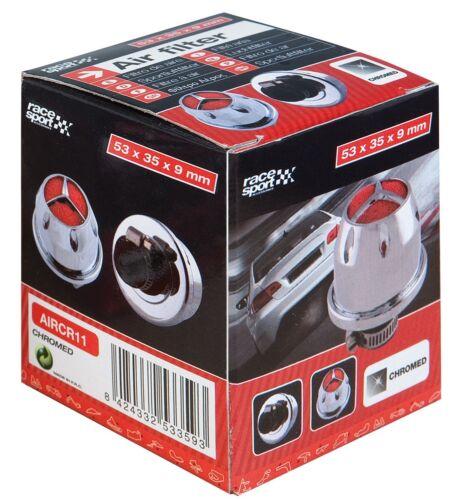 Sumex universel petit mini voiture induction kit filtre à air avec adaptateurs-chrome
