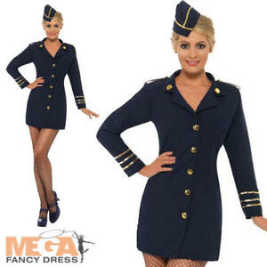 Flight Attendant Ladies Fancy Dress Uniform Navy Women Air Hostess