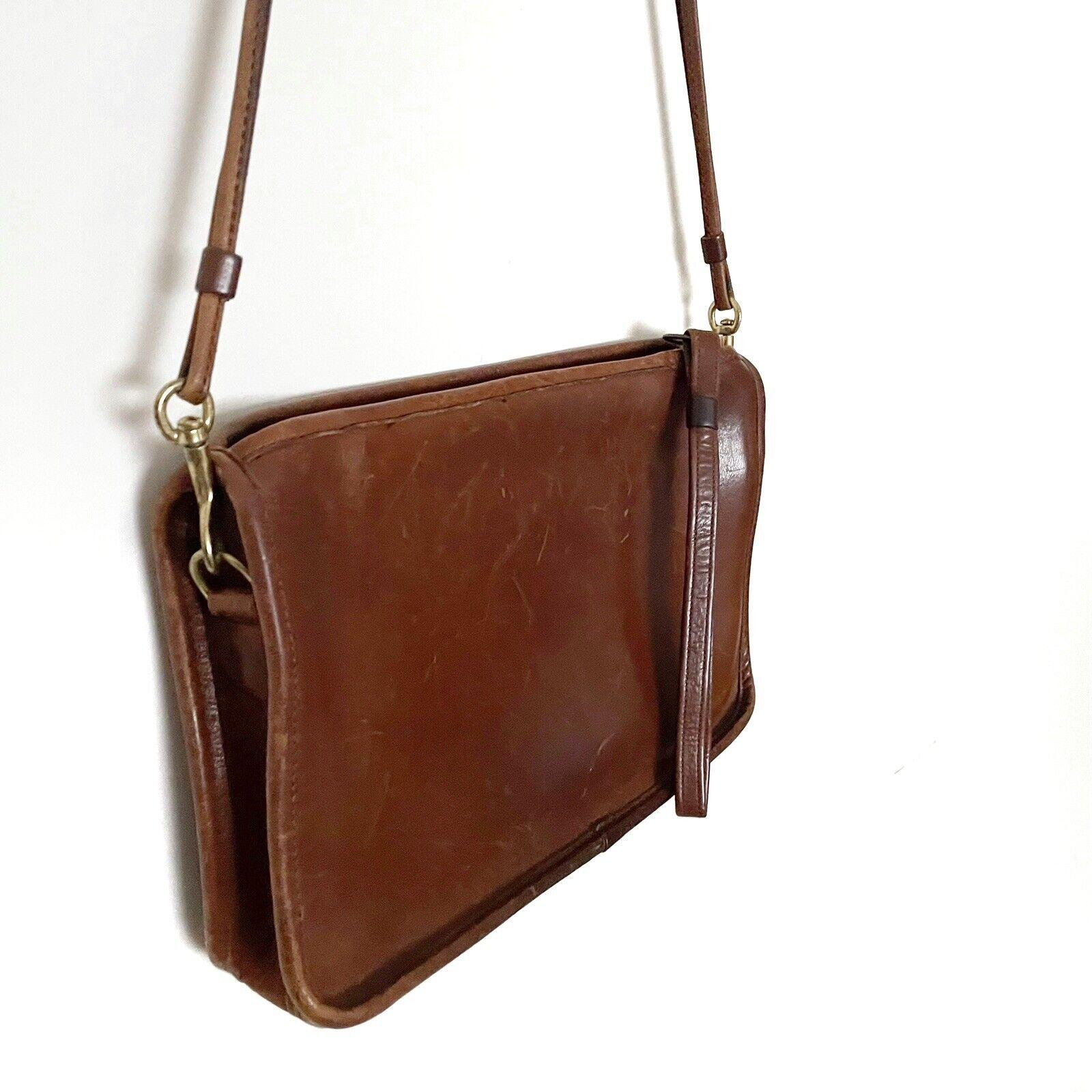 COACH Vintage Bonnie Cashin Brown Leather Shoulde… - image 5