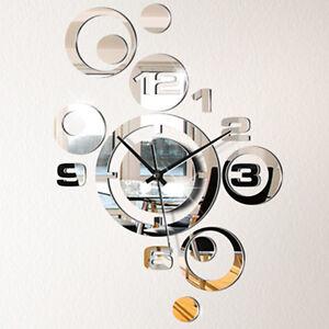 Wanduhr spiegel design 3d effekt modern stylisch qwarzwerk for Spiegel 3d effekt