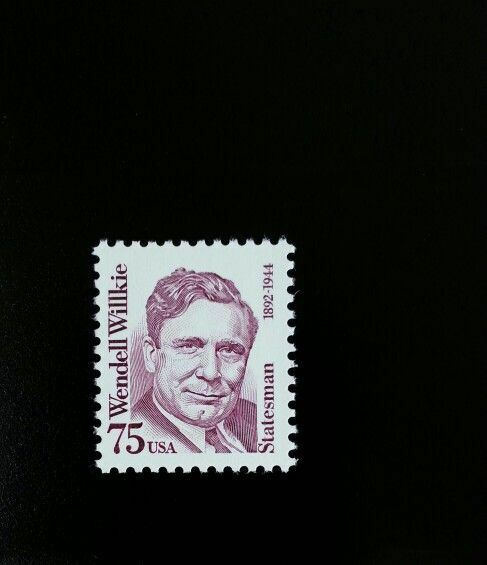 1992 75c Wendell Willkie, Republican Party Nominee Scot